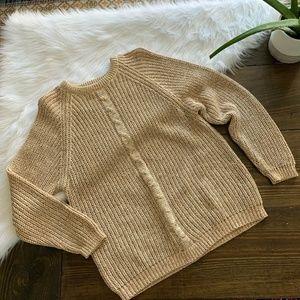VTG Whipp Tan Pink Green Chunky Knit Sweater